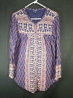Lucky Brand Women's Multicolor Long Sleeve Button Front Cardigan Size Medium