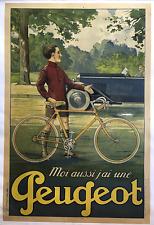 Peugeot - Vintage Bicycle Poster