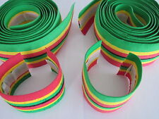 NOS CINELLI CORK HANDLEBAR TAPES - GREEN RED YELLOW - NO END PLUG