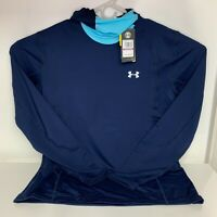 Under Armour ColdGear Reactor Hooded Base Layer Pullover Running Shirt Mens XXL