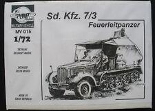 PLANET Models MV 015 - Sd. Kfz. 7/3 Feuerleitpanzer - 1:72 Panzer Modellbausatz