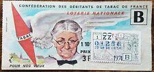 Billet de loterie nationale 1974 22e tr série B POUR NOS VIEUX Fontaine Médicis