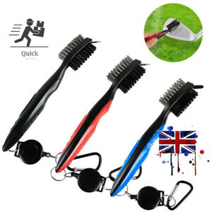 Golf Club Cleaning Tool Groove Brush Cleaner Hook to Bag for Iron Wood Clubs