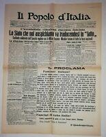N844 La Une Du Journal Il popolo d'Italia 29 octtobre 1922 l'irrésistibile