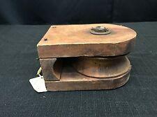 Vintage Large Wooden Pulley #60