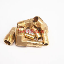 "LOT 2 Hose Barb I/D 8mm x 1/4"" BSP Male Elbow Brass Coupler Splicer Fittings"