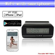WIRELESS WiFi SPY CAMERA IN DIGITAL CLOCK FOR ANDROID IPHONE VIDEO SURVEILLANCE