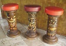 Tiki Pole Barstools Handmade Bar height- sale!