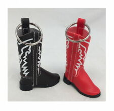 Two Boot Key Chains - Red and Black
