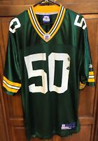 Reebok NFL Green Bay Packers AJ Hawk 50 Football Jersey Men XL