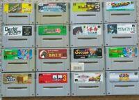 Nintendo Super Famicom SFC/SNES - Mix Game Lot (16)! US SELLER