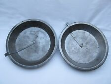 2 Vintage American tin pie baking plate dishes 1 being Ekcoloy Silver Beauty