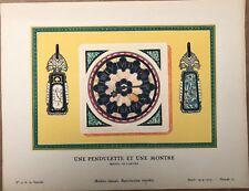 """Gazette du Bon Ton 4 """"Pendulette et Montre"""" Bijou Cartier Planche 27 1924/1925"""