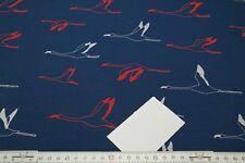 11,90€/m Stoffe Sweat Sommersweat French Terry Birds Vögel auf blau