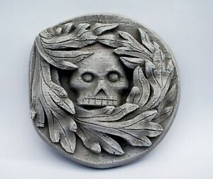 Green Man Skull Gothic Wall Plaque Stone Effect Carving Ely Cathedral Death Mask
