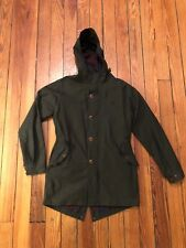 Fred Perry Made In England Waxed Cotton Fishtail Parka Sz S