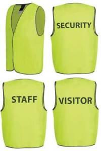 hi vis Vest, SAFETY VEST, PRINTED VEST, INDUSTRIAL VEST, SECURITY/STAFF/VISITOR