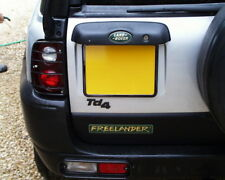 Black Front+Rear 4x4 number plate surrounds kit for Land Rover Freelander 1 TD4