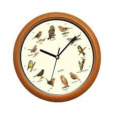 Benail Singing Bird Wall Clock 12 Inch with New Design of the Bird Names and ...