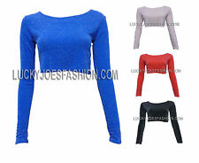 Unbranded Scoop Neck Cropped Petite Tops & Shirts for Women