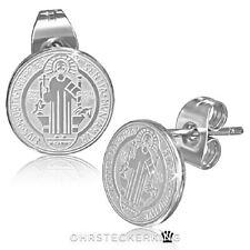 Medalla de plata de San Benedicto acero inoxidable nuevo ☆ ☆