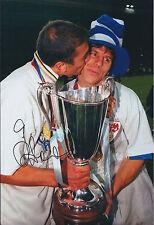 Gianfranco ZOLA SIGNED COA Autograph 12x8 Photo AFTAL CHELSEA UEFA Winner RARE