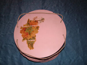 VINTAGE 1940S PINK PRINCESS FLOWER SEWING BOX