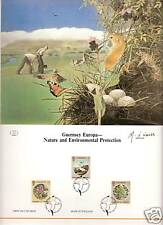 Guernsey Europa- # 331-333 Nature & Environmental Protection 1986