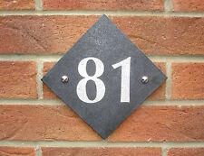 House Number Sign, Slate Grey Granite, Door Plaque
