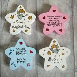 Freestanding Sentiment Stars MDF - Fairy,  Unicorn,  Rainy Day, Magic