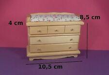 commode à langer miniature,maison de poupée,vitrine,meuble bois vernis  M2