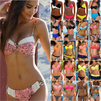 Womens Push-Up Padded Bikini Set Ladies Swimsuit Swimwear Beachwear Bathing Suit