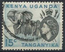 "K.U.T. 1954-9 SG#169, 15c QEII Definitive Used No Stop Below ""C"" #D22725"