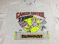 Cancer Control T-Shirt VTG 1993 Adult SZ M/L Tennis Tournament Chattanooga 90s