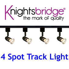 Knightsbridge 4 Point éclairage sur rail Simple Circuit lumière LED 2 Mètres 2m