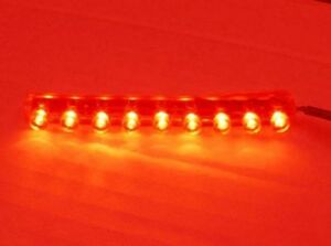 9 LED [RED]FLEXIBLE STRIP MOTORCYCLE/CAR/BOAT/RV Bright POD LIGHT 12V Waterproof