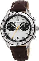 Bruno Magli Men's Marco 1081 Swiss Quartz White Dial Italian Leather Strap Watch