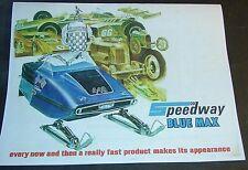 Vintage Speedway Blue Max Snowmobile Sales Brochure 4 Pages Copy