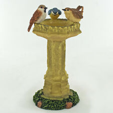 Garden Birds On Fountain Ornament Figurine Garden Gift New H10cm Bowbrook 04093