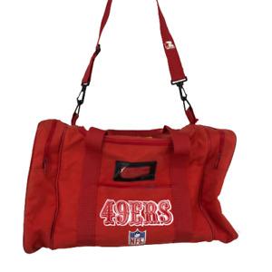 """Vintage NFL Womens Mens Bag Gym Bag San Francisco 49ers Starter Duffle Red 11"""""""