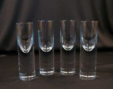 "Vintage Set of 4 Very Thick Shot Glasses Shooters Bar, 5 5/8"" Tall Estate Find"