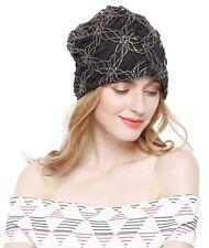 Muslim Women Lace Flower Head Cap Chemo Beanie Cancer Hat Beigh High Quality New