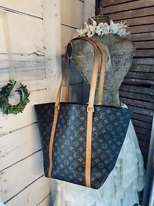 Authentic Louis Vuitton Monogram Sac Shopping Tote Shoulder Bag US SELLER