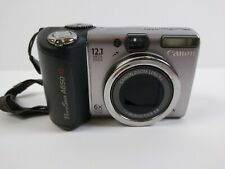 Canon PowerShot A650 IS 12.1 MP Digital Camera With 4gb SD Card Tested. Works S2
