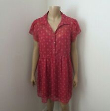 NWT Abercrombie & Fitch Womens Dress Large Floral Chiffon Burgundy