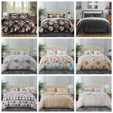3 Piece Printed Duvet Cover Set Quilt Bed Cover Bedding Set Queen/King