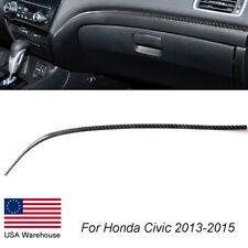 Carbon Fiber Passenger Strip Trim Cover Sticker For Honda Civic Coupe 2013 2015 Fits 2013 Honda Civic Si