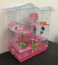 Large Pink Twin Tower Hamster Habitat Rodent Gerbil Mouse Mice Degu Rats Cage