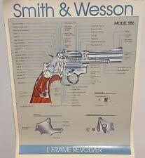 SMITH and WESSON L Frame Revolver Pistol Gun Model 586 rare Poster