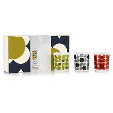 Orla Kiely - Olive Shadow Flower Mini Candle Gift Set in Presentation Box